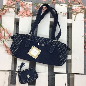 Limited Edition Denim Vera Bradley Handbag!
